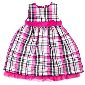 Carter's Pink Plaid Girl's Dress 3T